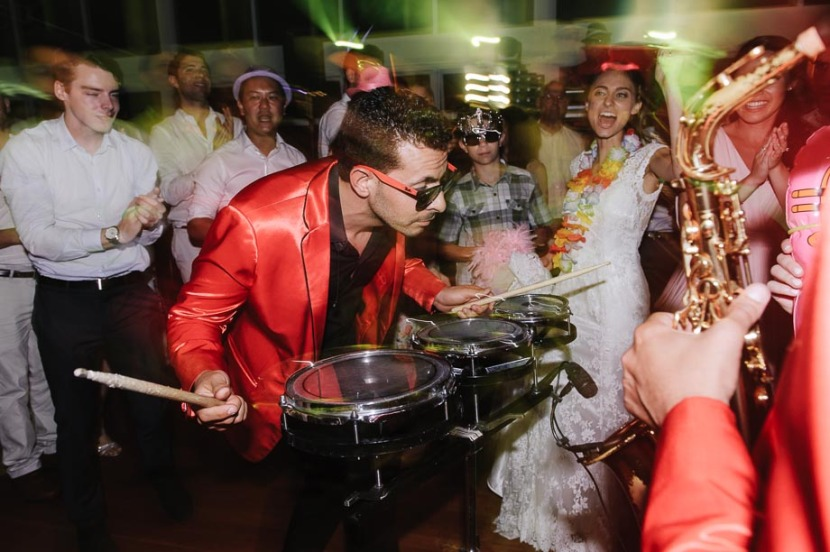 drummer-performing-on-wedding-dance-floor