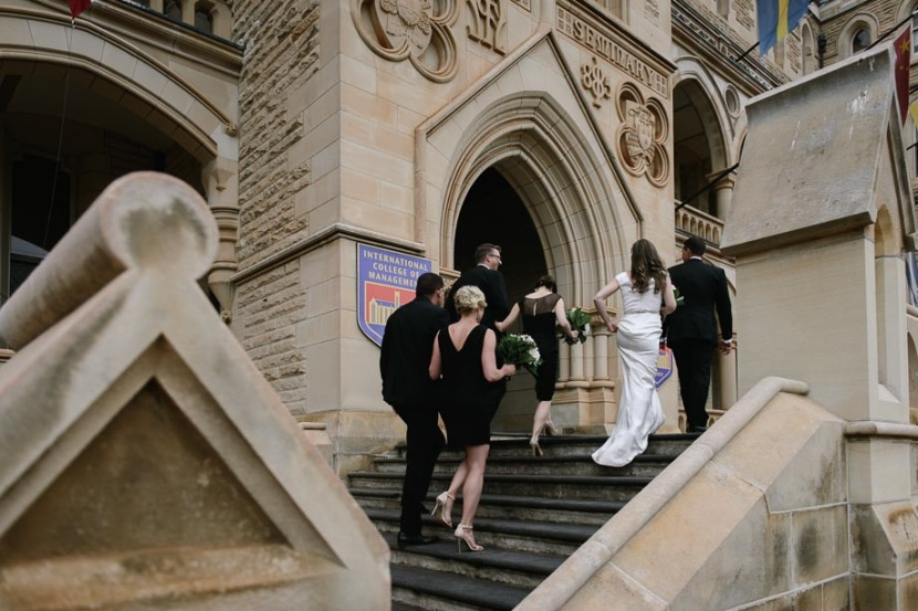 wedding-party-walking-up-steps