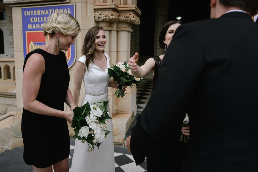 bride-laughing-after-wedding-ceremony