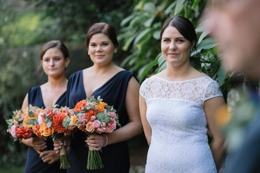 bride-and-bridesmaid-wedding-ceremony