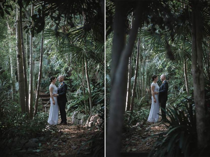 bride-groom-wedding-portrait-in-trees