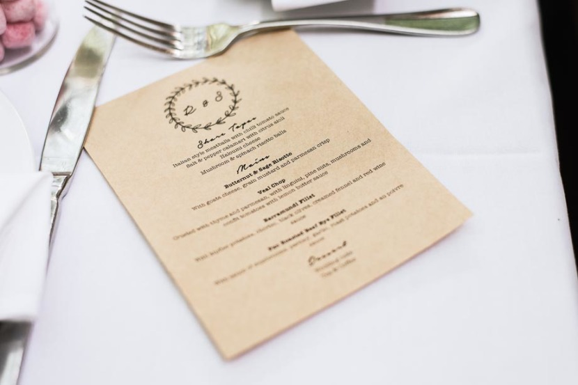 wedding-menu-on-table