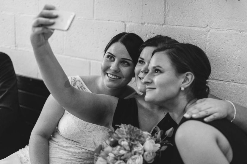 bride-bridesmaid-taking-selfie