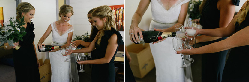 bride-pouring-bridesmaid-champagne