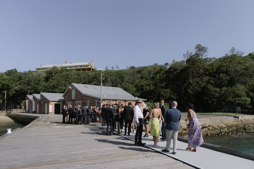 wedding-guest-queing-q-station-wharf