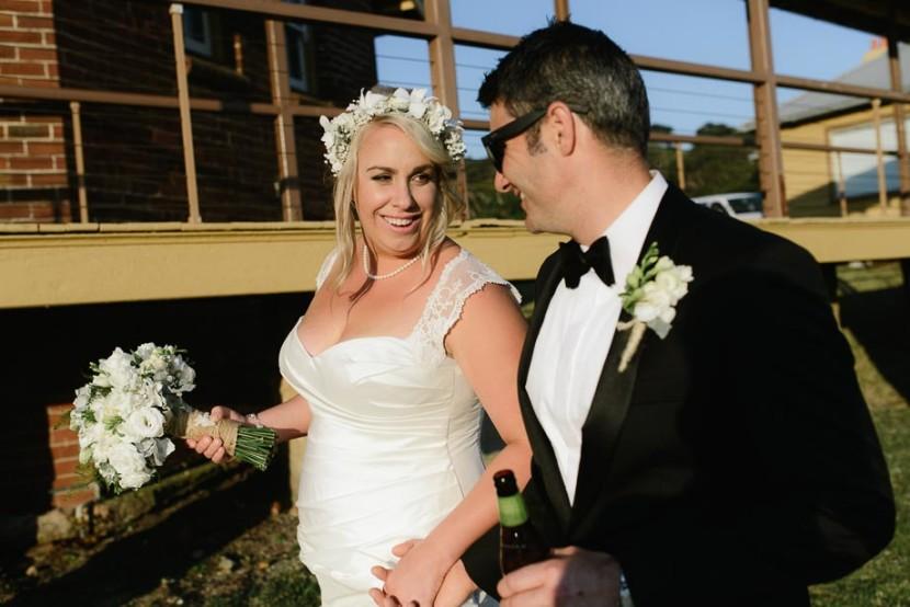 bride-groom-walking-on-grass