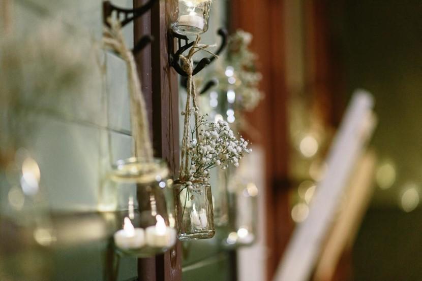 wedding-flowers-hanging-on-wall