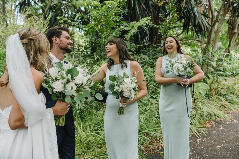 bridesmaids-laughing-sydney-botanical-garden-wedding