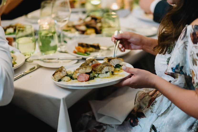 plates-of-wedding-food-botanical-garden-restaurant
