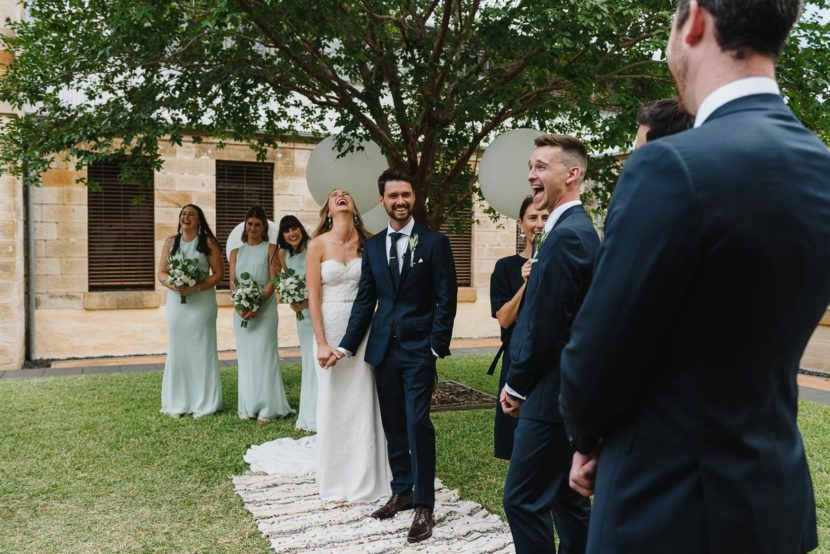laughing-wedding-party-sydney-mint-wedding