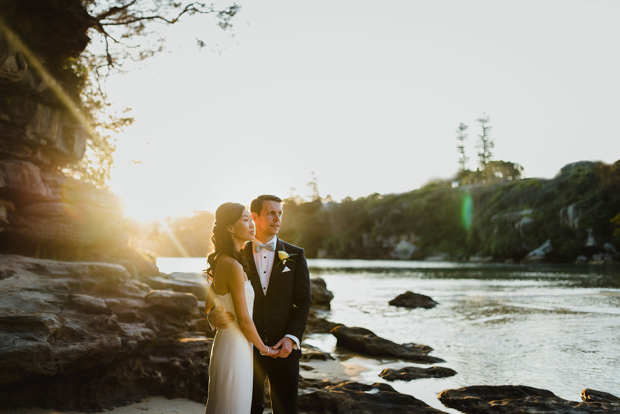 bride-groom-portrait-collins-beach-wedding